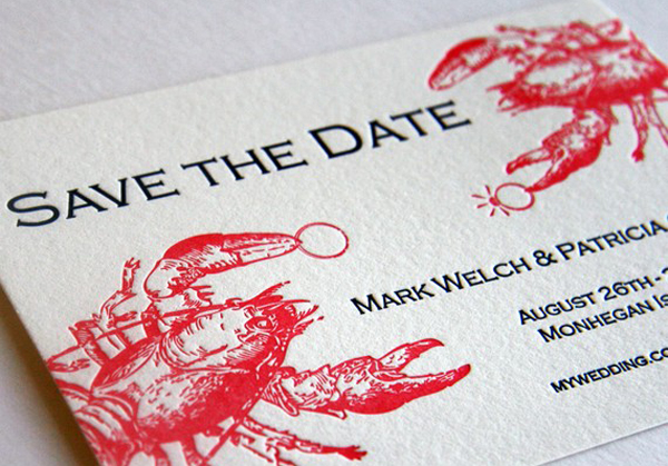 Lobster save the date