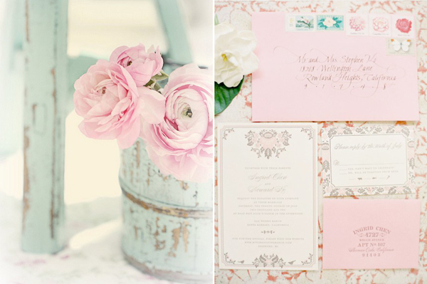 newport wedding pastels