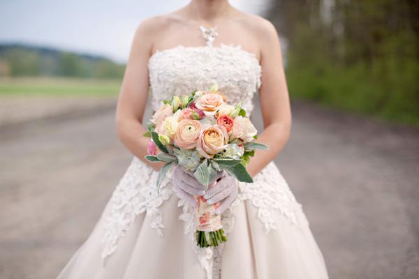 The look wedding gloves for Julian alexander wedding dresses