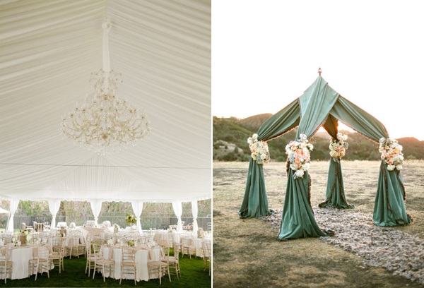 Did ... & Inspired by... Fabric draped tents!