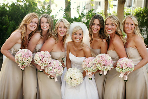 champagne colored bridesmaid dresses at your wedding send us photo