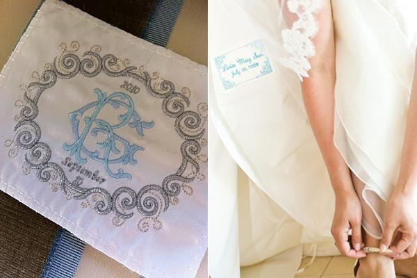 wedding dress label
