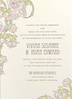 wedding invitation wording for reception at different With wedding invitation wording with reception at different location