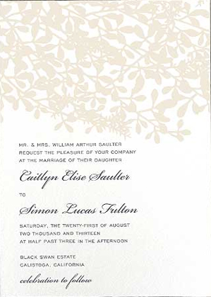 brides parents host - Wedding Invitation Wording Etiquette