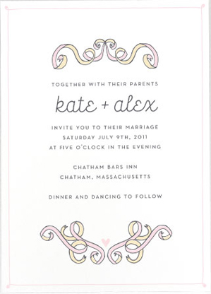 Etiquette 101 how to properly word your wedding invitations casual secular venue stopboris Choice Image