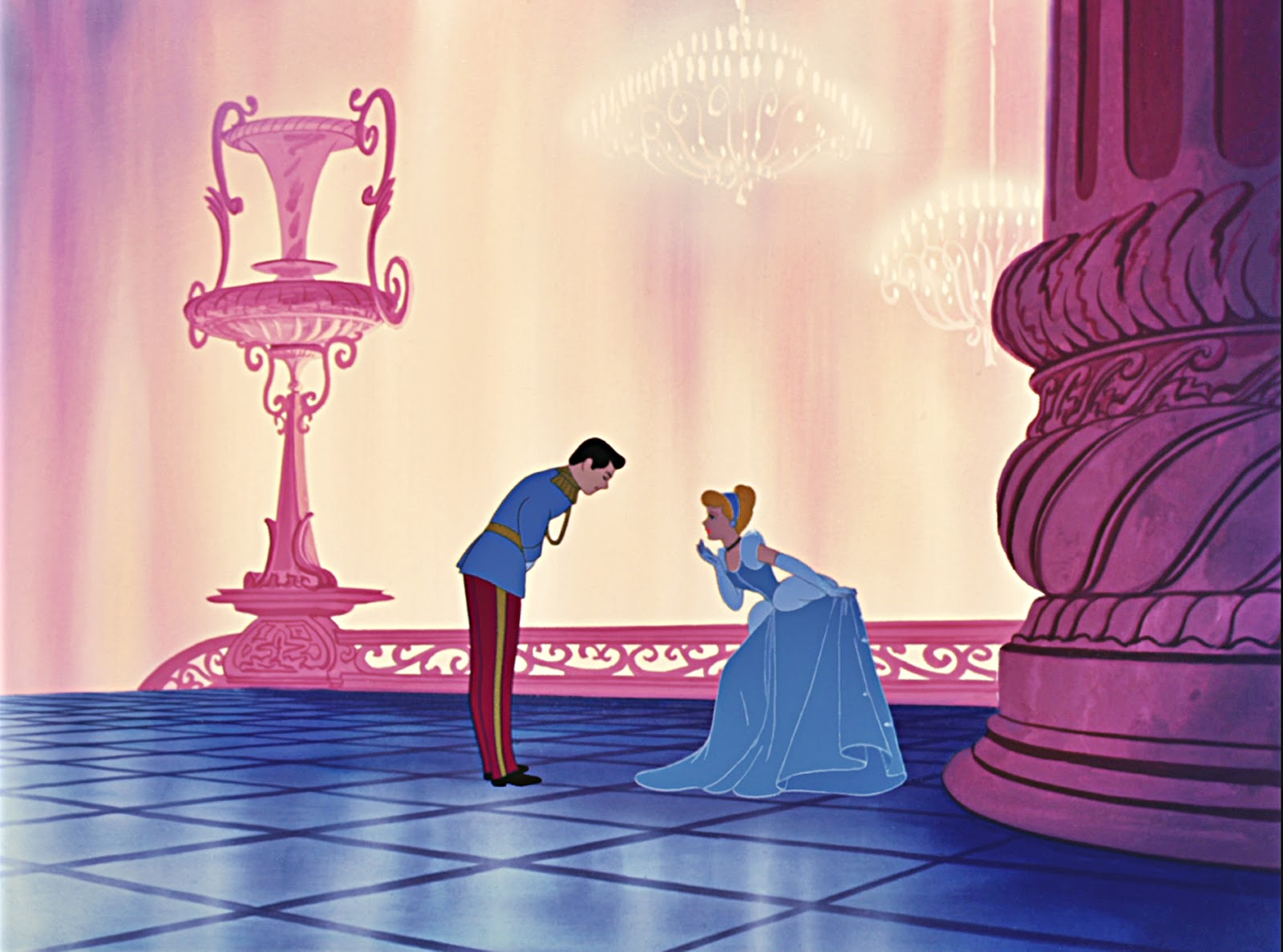 Cinderella Disney 1950 Cinderella meeting Prince Charming at Ball
