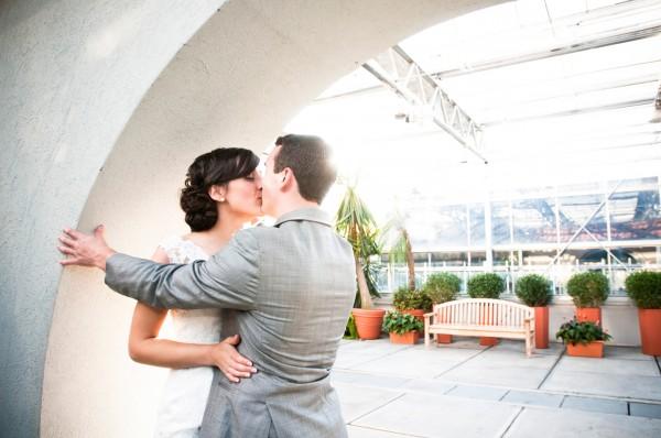 Newport Wedding Photography - Blueflash - Bride and Groom Kissing