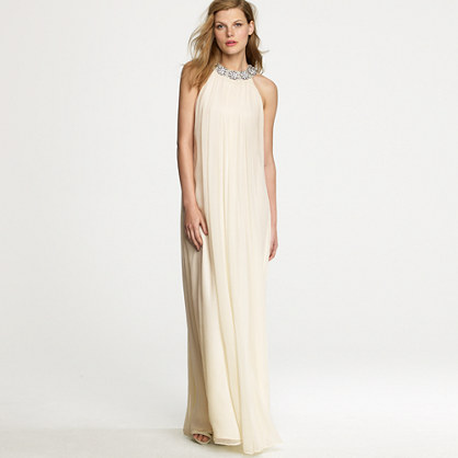 jcrew collar gown