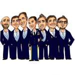 group-caricature-groomsmen
