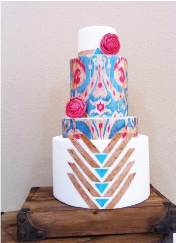 ikat wedding cake